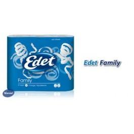 Toiletpapier Edet family 3-laags 40 rollen 1 +1 GRATIS
