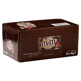 M&M's chocolade bruin 24 x 45 gram