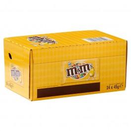 M&M 's pinda geel doos 24 x 45 gram