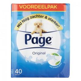 Toiletpapier Page Zacht en Sterk 40 rollen OP=OP
