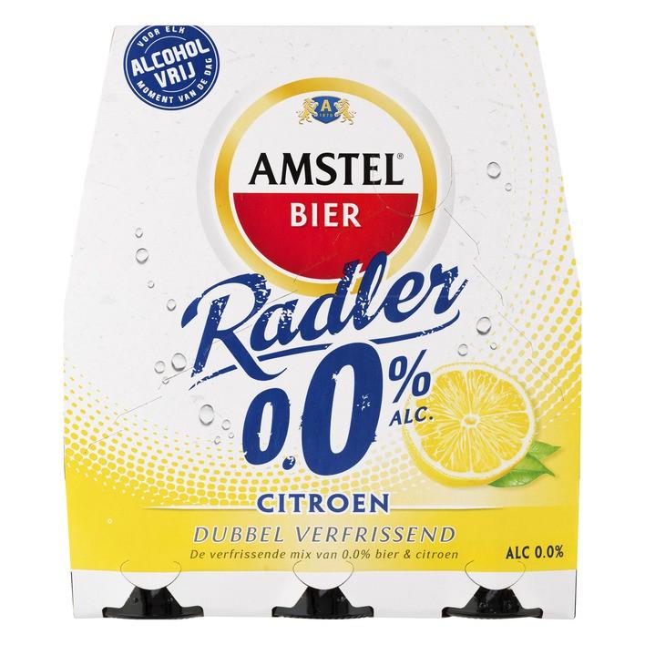 Amstel  Radler citroen 0% alcohol  6 x 30 cl flesjes