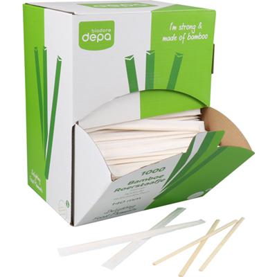 Biodore Roerstaafje Bamboe 140mm naturel 1000 stuks