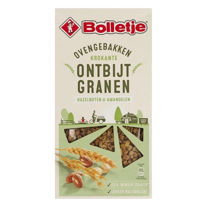 Bolletje ontbijtgranen Ovengebakken krokant met noten 375 gram