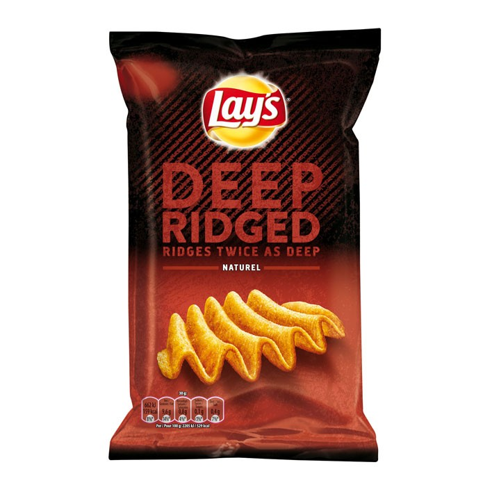 Chips Lay's deep ridged naturel 147 gram