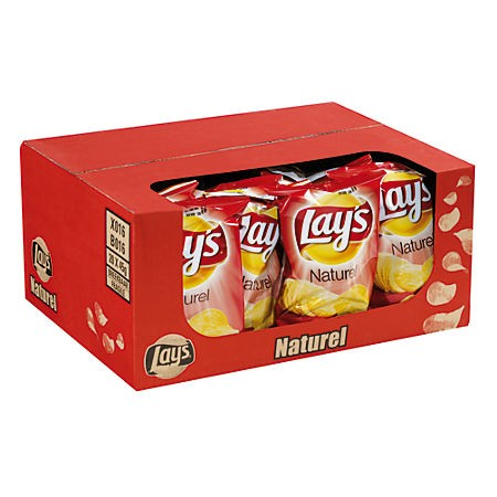 Chips Lay's naturel doos mini zakjes 20 x 40 gram