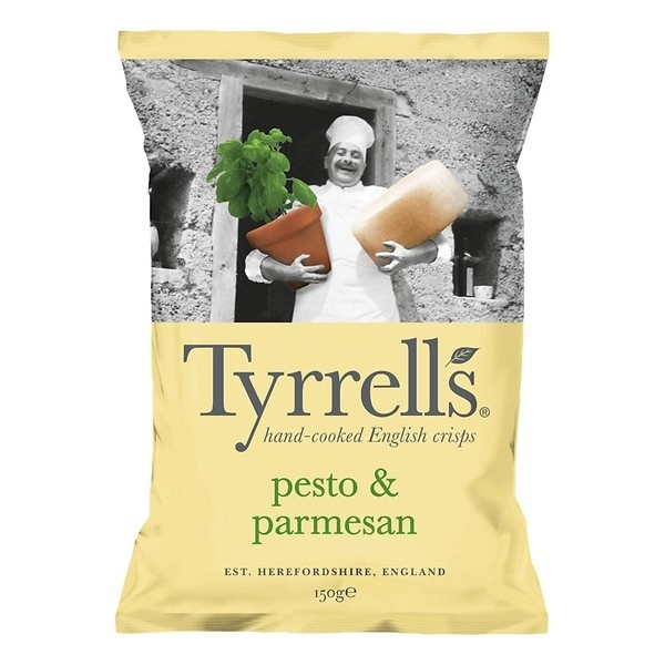 Chips Tyrrells pesto & parmesan 150 gram