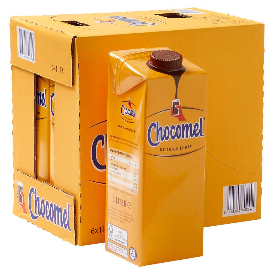 Chocolademelk Chocomel vol Nutricia 6 x 1L