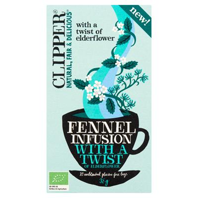 Clipper thee fennel infusion with a twist of elderflower 20 stuks