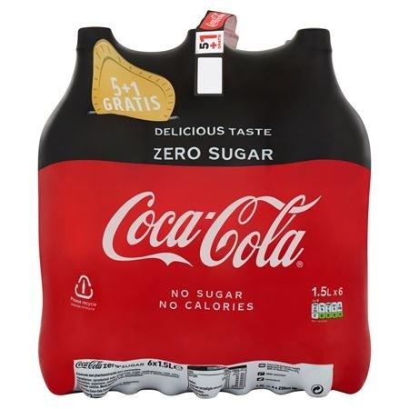 Coca cola Zero 6 x 1,5 liter fles