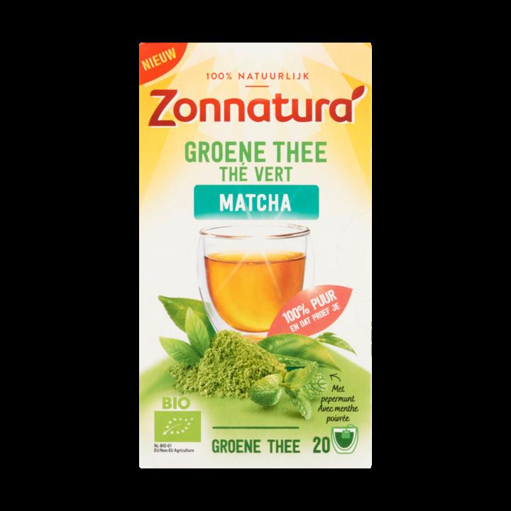 Groene thee matcha Zonnatura pakje