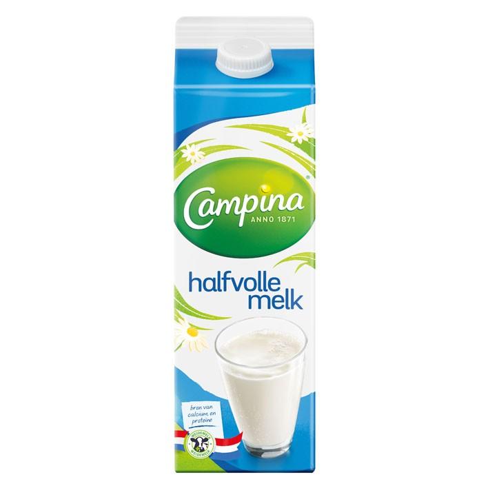 Halfvolle melk Campina 1L