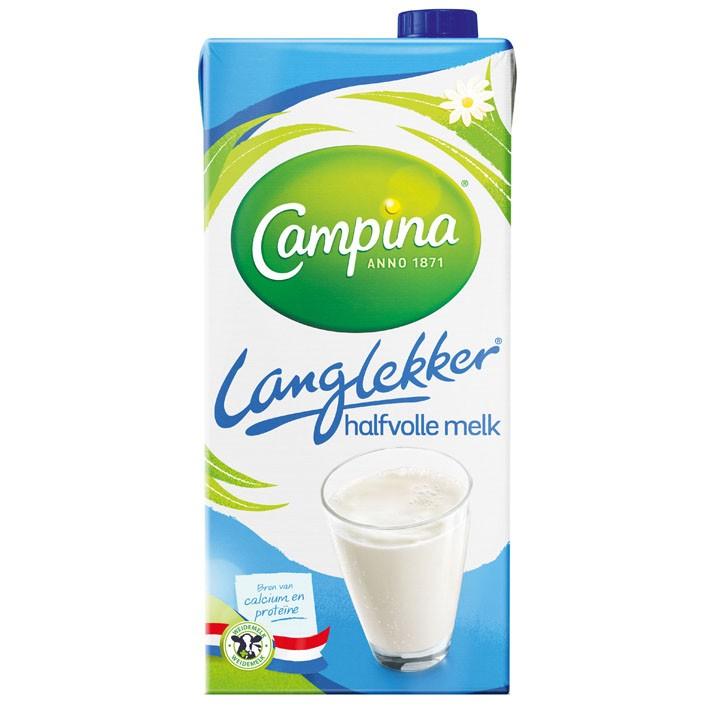 Houdbare halfvolle melk Campina 12 x 1 liter  OP=OP