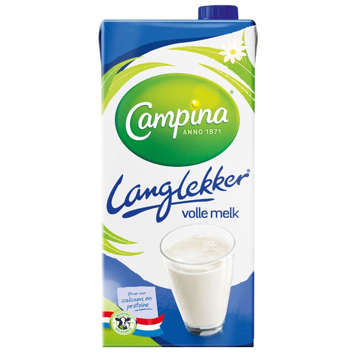 Houdbare melk volle Campina 12 x 1L