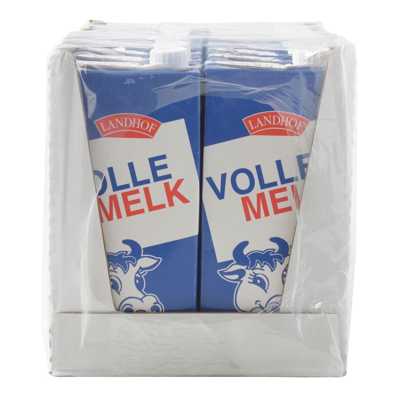 Houdbare volle melk Landhof 12 x1 liter pak