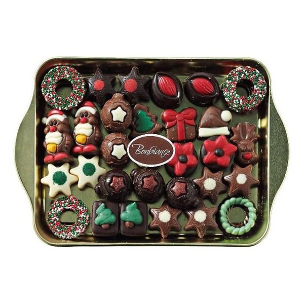 Kerstpralines schaal Bonbiance 400 gram