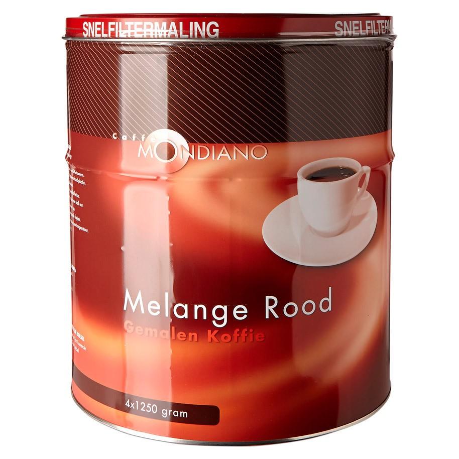 Koffie snelfilter Caffe Mondiano blik 5 kilo