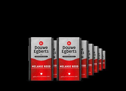 Koffie Douwe Egberts Rood professional snelfilter 24 x 250 gram
