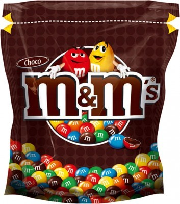 m&m schokolade