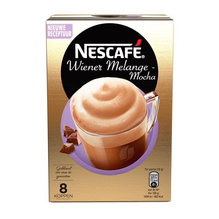 Nescafé wiener melange pak 8 stuks