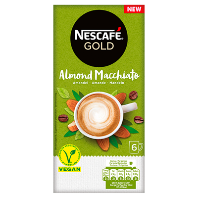 Nescafe almond macchiato instant koffie 6 x 16 gram