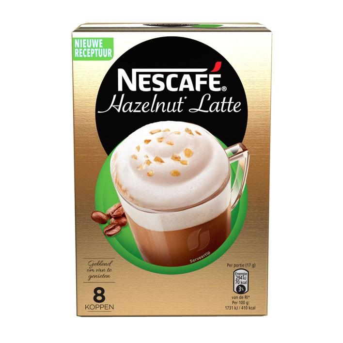 Nescafe latte hazelnut pakje 8 sachets