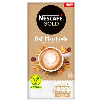 Nescafe oat macchiato instant koffie 6 x 16 gram