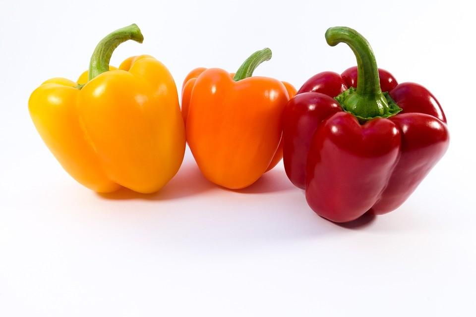 Paprika's gemengd 3 stuks groen, rood en geel