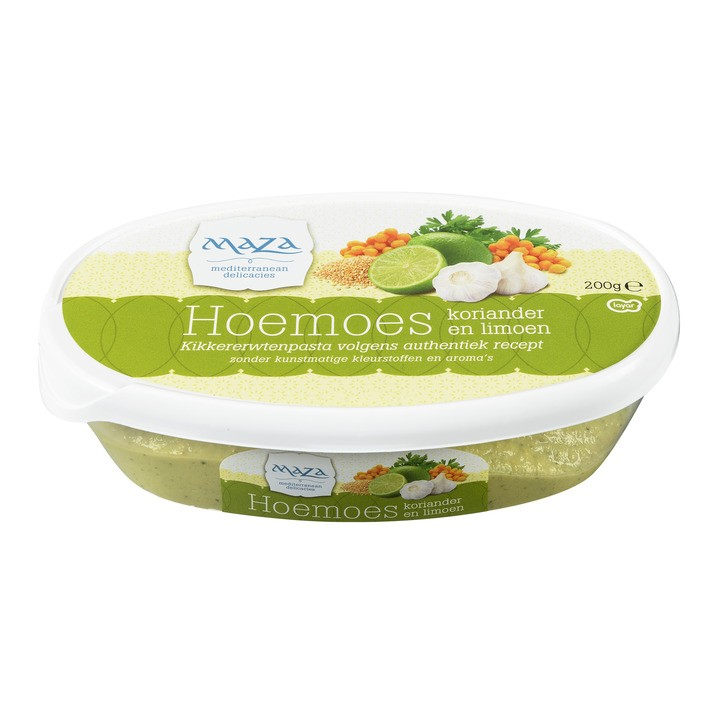 Salade hoemoes Maza koriander en limoen 200 gram
