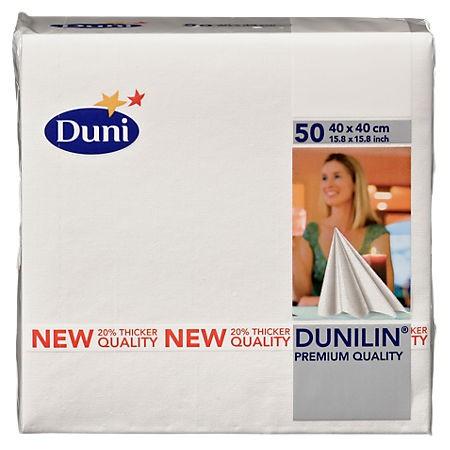 Servetten Duni wit 40x40cm 50 stuks