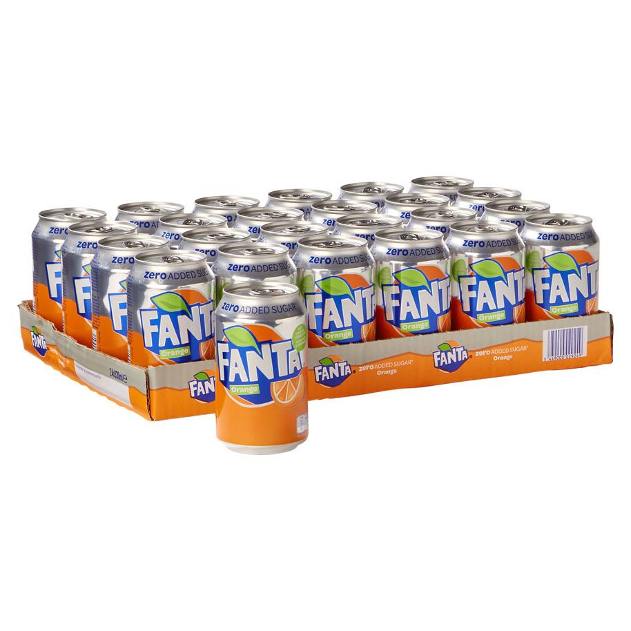 Sinas Fanta Zero blikjes  24 x 0,33L