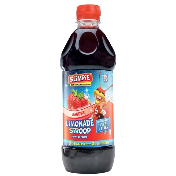 Siroop Slimpie aardbei 580ml