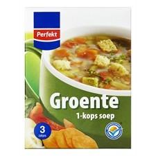 Soep 1 kops groente Perfekt 3zakjes