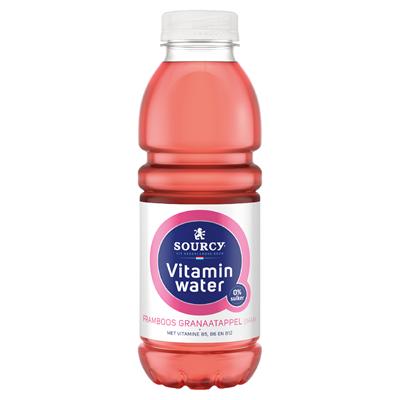 Sourcy vitaminwater Framboos Granaatappel 6 petfles a 50 cl.