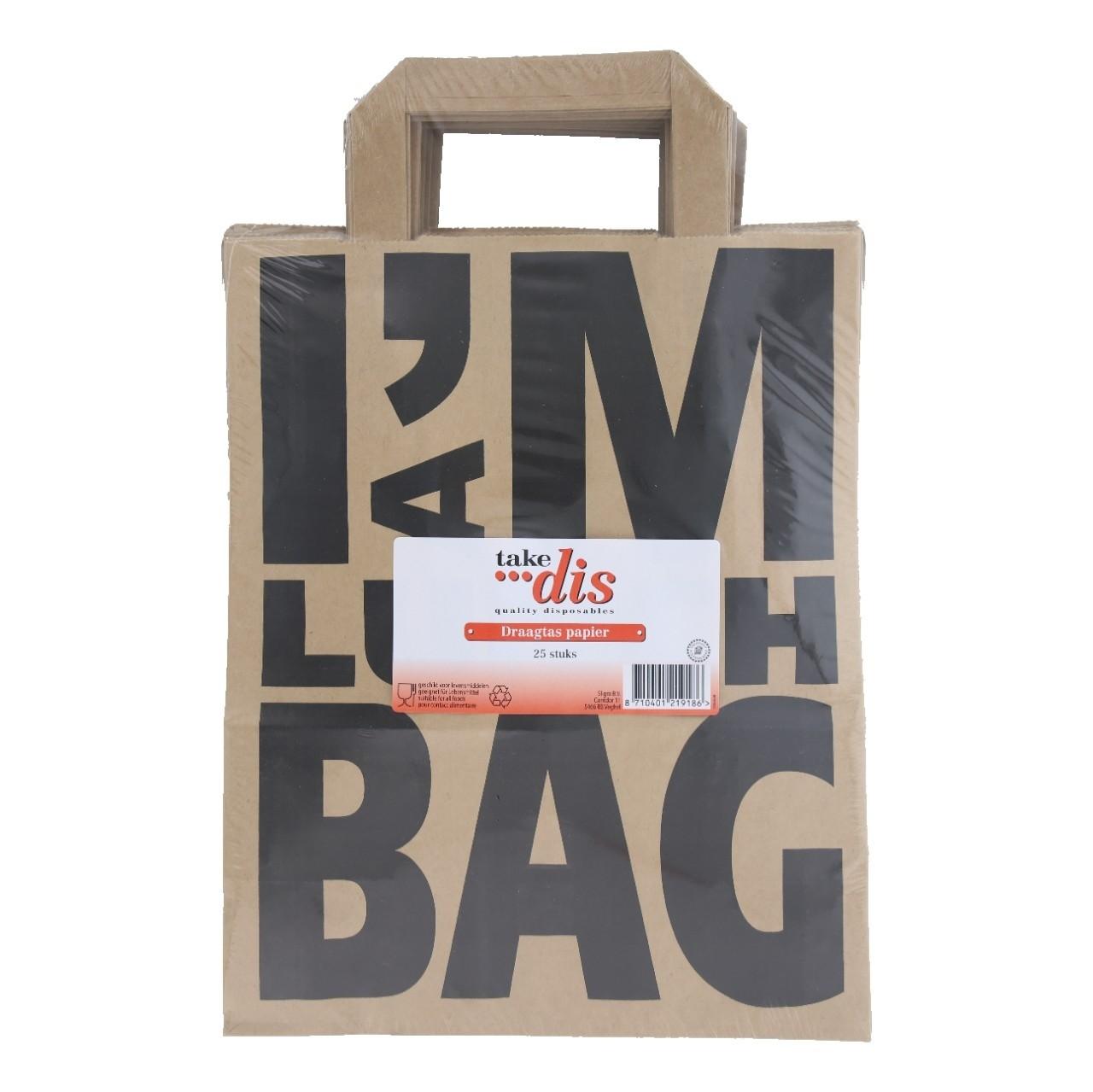 Take Dis Draagtas papier I'm a lunch bag 25 stuks
