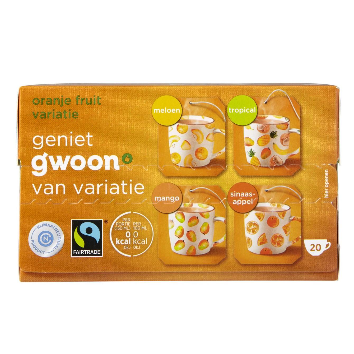 Thee G'woon fruit sensatie oranje 20x 2 gram