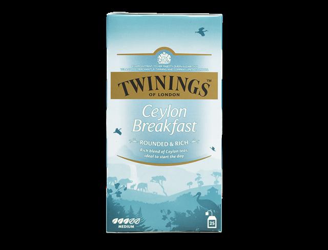 Thee Twinings ceylon breakfast 25zakjes