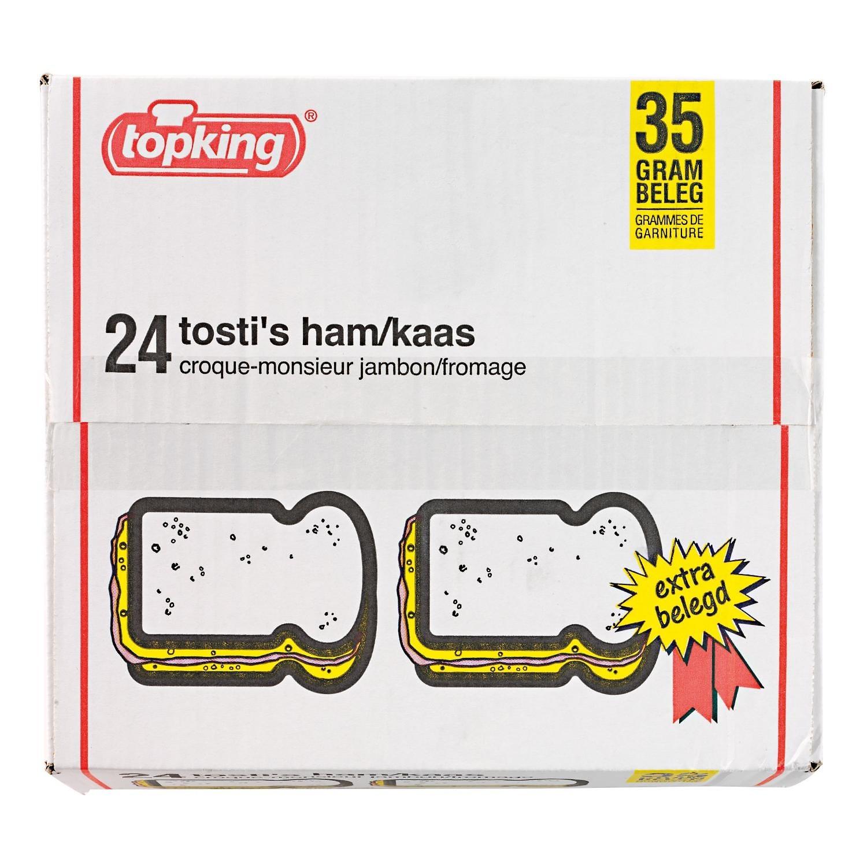 Tosti's ham kaas Topking diepvries doos  24 stuks