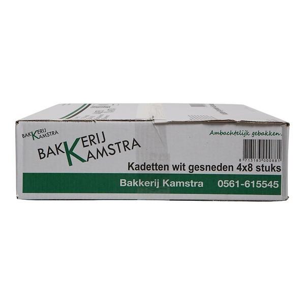 Witte bolletjes Kamstra doos 32 stuks voorgesneden