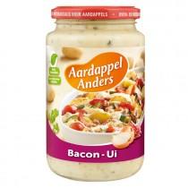 Aardappel anders bacon ui pot