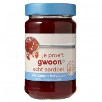 Aardbeien halvajam G'woon 320 gram