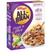 All Bran Kellogs fruit 'n fibre