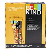 BE KIND Caramel Almond & sea salt  doos 12 repen a 40 gram