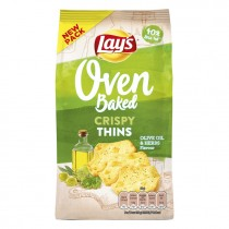 Chips Lay's oven crispy thins olive oil & herbs 90 gram