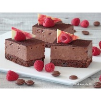 Chocolade bavaroise gebakje vers per stuk