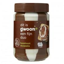 Chocoladepasta duo G'woon 400 gram