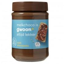 Chocoladepasta melk G'woon 400 gram