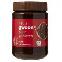 Chocoladepasta puur G'woon 400 gram