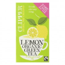 Clipper green tea lemon organic pakje