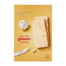 Crackers luchtig naturel G'woon 12x1 pak  250 gram