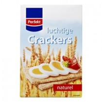 Crackers luchtig naturel  Perfekt  12x1 pak a 250 gram